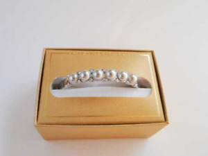 Charter Club Silver Pearl and Crystal Bracelet - New