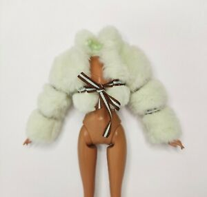Myscene Doll Mint Green And Brown Faux Furr Puffer Jacket For Barbie Dolls...