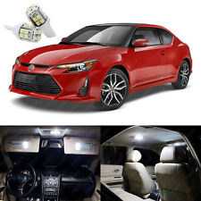 9 x Pure White LED Interior Lights Package Kit Deal For Scion tC TC 2008 - 2014