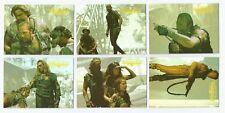 1995 Fleer Ultra Waterworld Movie set of 6 Prismatic Foil chase insert cards