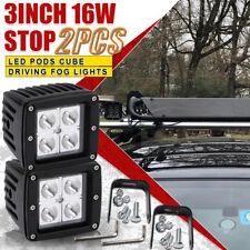 2X 16W Spotlight LED Cube Pods Work Light Led Fog Lamp Offroad Truck Square
