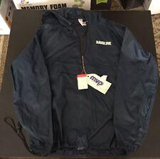NEW Mens Navy Blue HAVOLINE Windbreaker Jacket Size M