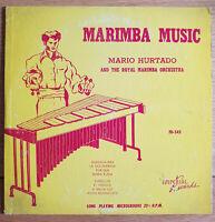 """RARE LATIN JAZZ 10"""" LP MARIO HURTADO AND ROYAL MARIMBA MUSIC ORCHESTRA OG US"""