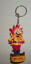 Mad Money Lady Luck Casino Hotel Rubber Yellow Red Jester Key Chain