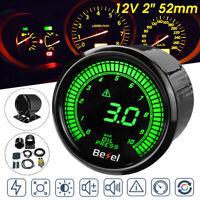"2"" 52mm 0-10Bar Oil Pressure Gauge Kit Meter w/ Sensor Meter Digital LED Display"