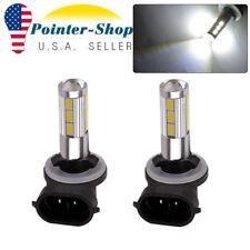 2x White 2323 SMD 881 LED High Power Fog Driving Light Bulbs 12V-24V 1200LM
