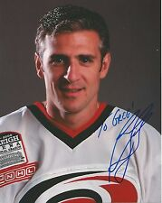 Ron Francis Hand Signed 8x10 Autographed Photo w COA Carolina Hurricanes