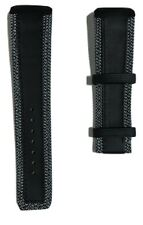 Original Tissot T-Touch Expert SOLAR Black Leather w/ Stitching Watch Band Strap