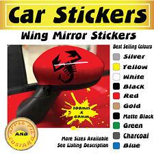 Abarth Scorpion Wing Mirror Stickers x2 (100mm x 89mm)