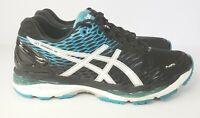 Asics Gel-Nimbus 18 Running Shoes Black/Blue/White T600N Mens Size 8 Fast Ship!