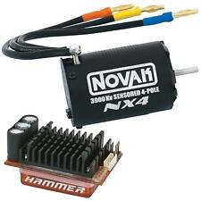 Novak Hammer / NX4 Sensored 1/10 Brushless 4-Pole Combo 3900Kv #3310