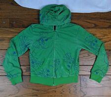 Green Blue Skull Full Zip Hoodie Size Large Juniors? 8-Bit Activewear Sweater