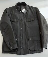 Barbour International Duke Wax Jacket Size M Black