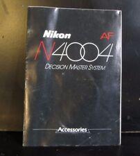 Usado Nikon N4004 Af Cámara Lente Flash Accesorio List Folleto O401610