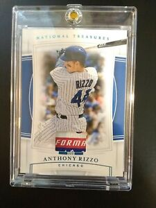 2020 National Treasures Anthony Rizzo 1 Of 1 Laundry Tag Cubs