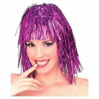 Colorful Tinsel Hair Short Disco Rock 80s Wig Mardi Gras Crazy Costume Accessory