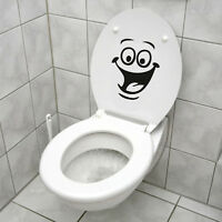 Smiley Face WC Toilet Decal Wall Mural Art Decor Funny Bathroom Sticker Vinyl