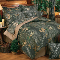 3-5 PC Camouflage Bedding Set Mossy Oak New Break Up Comforter Set & Curtains