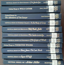 Critical Essays on American Literature Set of 11 hardcover books