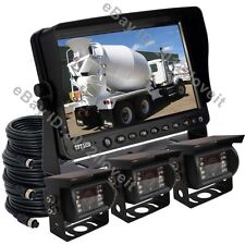 "9"" REAR VIEW BACKUP CAMERA KIT SYSTEM CCTV FOR TRACTOR, EXCAVATOR, TRUCK, RV"