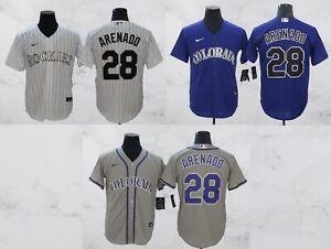 Colorado Rockies #28 Nolan Arenado Cool Base Men's Stitched Jersey