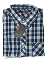 Ben Sherman New Check Men's Shirt Long Sleeve Logo Pocket Branded Buttons BNWT