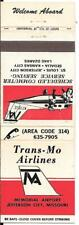 TRANS-MO AIRLINES, MEMORIAL AIRPORT- JEFFERSON, CITY, MISSOURI EARLY MATCH COVER