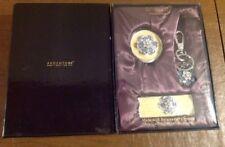 New Argento SC Swarovski Crystal Mirror, Lipstick Case & Keychain Set~Amandier