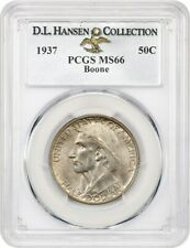 1937 Boone 50c PCGS MS66 ex: D.L. Hansen - Low Mintage Issue - Low Mintage Issue
