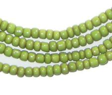 Pistachio Green Small Glass Beads 2 Strands 3mm Ghana African Seed Handmade
