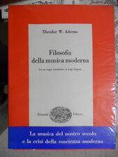 ADORNO - FILOSOFIA DELLA MUSICA MODERNA - EINAUDI 1959