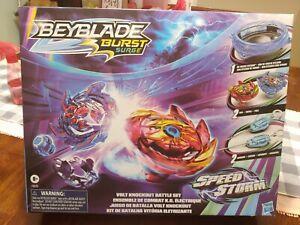 Beyblade Burst Surge Speedstorm Volt Knockout Battle Set In Hand Fast Shipping