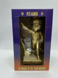 Pete Alonso Gold Rookie of the Year Limited Edition Bobblehead Mets SGA 2021