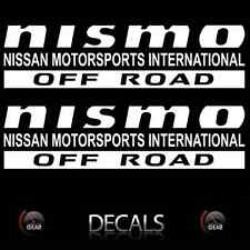 (2) White NISMO OFF ROAD Decals Stickers Nissan Titan Frontier Pathfinder Custom