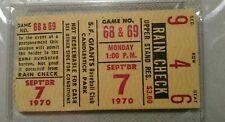 9/7/1970 REDS GIANTS PSA AUTHENTIC TICKET STUB McCOVEY HR# 348 MARICHAL WIN #201