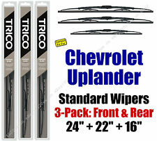 Wiper Blades 3pk Front Rear Standard 2005-2009 Chevrolet Uplander 30240/221/160