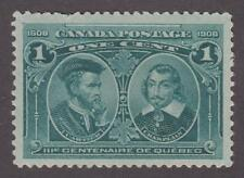 Canada 1908 #97 Quebec Tercentenary Issue 1 cent - MNH  F/VF