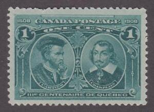 Canada 1908 #97 Quebec Tercentenary Issue 1 cent - MNH  F/VF