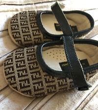 Adorable Fendi infant Ballerina Flats shoes UK size 11 pre Walker upto 3 Months
