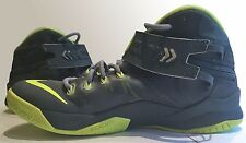 Nike Zoom LeBron Soldier 8 in magnet gray/volt green youth size 7