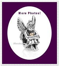 14k Gold Heart AUTHENTIC Pandora Fantasy Fairy PIXIE Charm Bead 2-Tone #791206