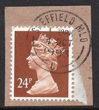 GB = QE2 Postmark - `SHEFFIELD MLO (C)` 1993 Single Ring cancel.