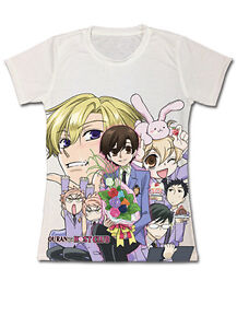 **Legit** Ouran High School Host Club Twin Group Authentic Junior T-Shirt #59700