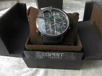 Esprit Collection EL101431F02 Poseidon Night . Armband Uhr Herren OVP 219 Euro