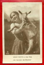 HENNY PORTEN AND goatling # 565/4 PUBLISHER GERMANY VINTAGE PHOTO PC. 310