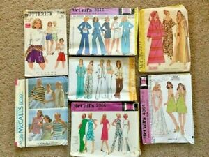Lot of 8 Old Sewing PatternsMcCall's Simplicity Butterick Vintage Sz 12 Women