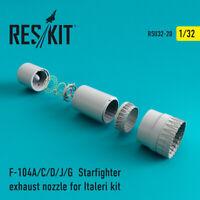 F-104 Starfighter (A/C/D/J/G) exhaust nozzle for Italeri 1/32 ResKit RSU32-0020