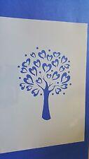 Schablonen 379 Baum Herz Mylar Shabby Möbel Wandtattoos Wandbilder Airbrush Love