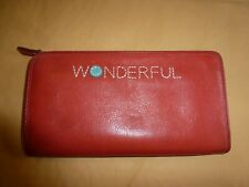 "FOSSIL leather Red/orange zip""WONDERFUL"" wallet"