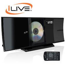 Ilive Bluetooth Home Music System CD FM Stereo USB 3.5mm Shelf Black New IHB603B